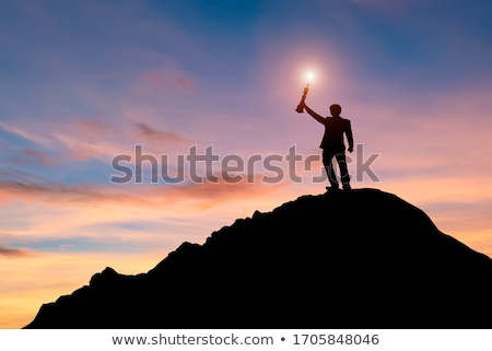 Business Goals - A Man Reaching for The Sky Stock photo © solarseven