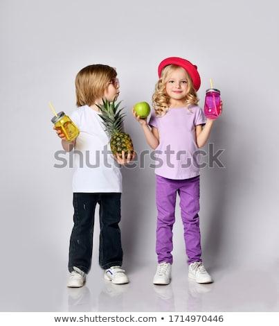 желтый одежду вечеринка набор мальчика пить Сток-фото © toyotoyo