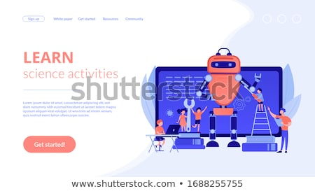 Engineering for kids concept landing page. Stock photo © RAStudio