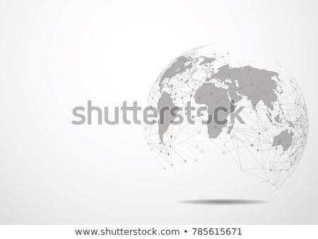 Vector world globe, connect concept design illustration Stock photo © designleo