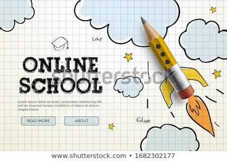 istruzione · scuola · scienza · vettore · modello - foto d'archivio © ikopylov