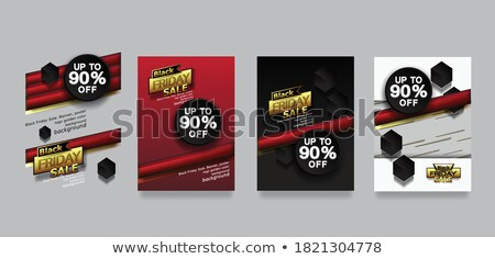black friday sale banner with discount design template vector stock photo © andrei_