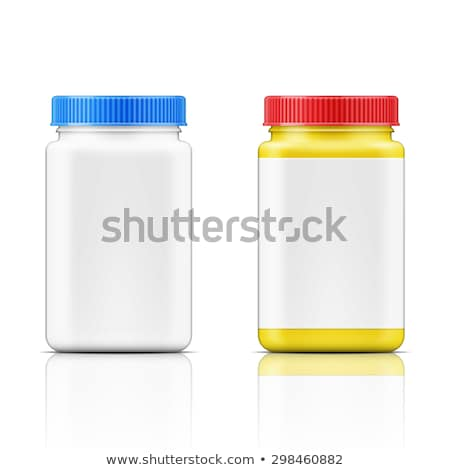 Square Bottle With Blank Label Color Vector Stock photo © pikepicture