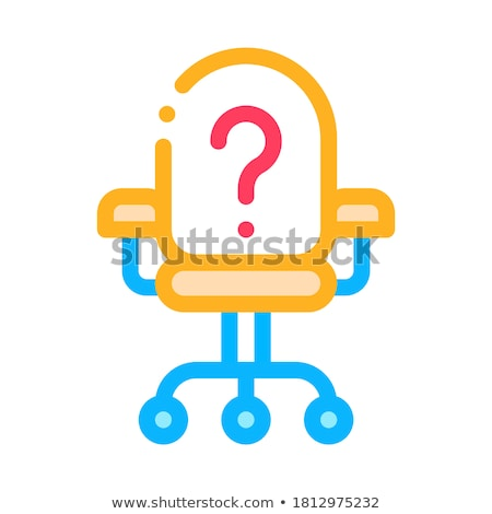 office chair and question mark job hunting vector stock photo © pikepicture