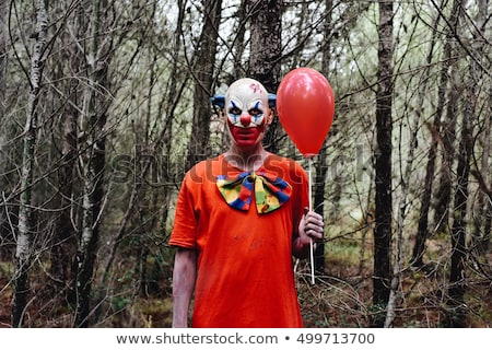 scary clown outdoors Stock photo © nito