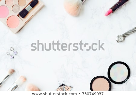 eye shadow palette on marble background make up and cosmetics p stock photo © anneleven