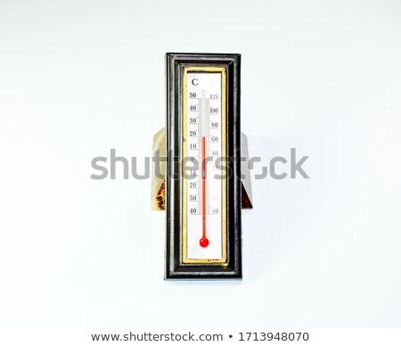 Thermometer Rood vloeibare binnenkant illustratie ogen Stockfoto © bluering