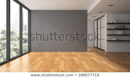 Pared habitación vacía iluminado lámparas gris Foto stock © make