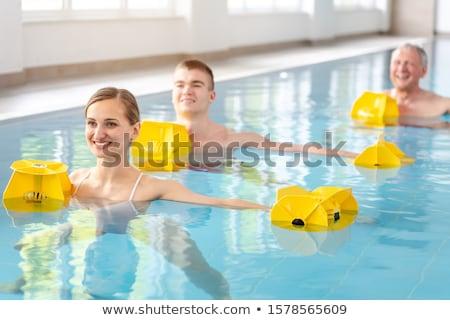 Egészség központ víz medence nő férfi Stock fotó © Kzenon