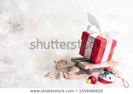 Wooden Sled In The Snow Stock photo © AndreyPopov