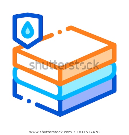 Waterproof Material Chipboard Vector Line Icon Stock photo © pikepicture
