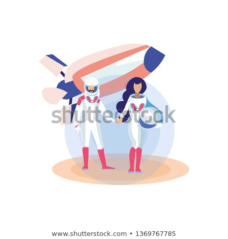 New Worlds - A Futuristic Spaceman On A Planet Surface Stock photo © solarseven