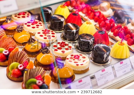 Showcase with Muffins and Cakes, Confectionery Stock photo © robuart