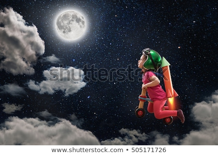 Cute Girl Dreaming of Traveling and Discoveries Stock photo © robuart