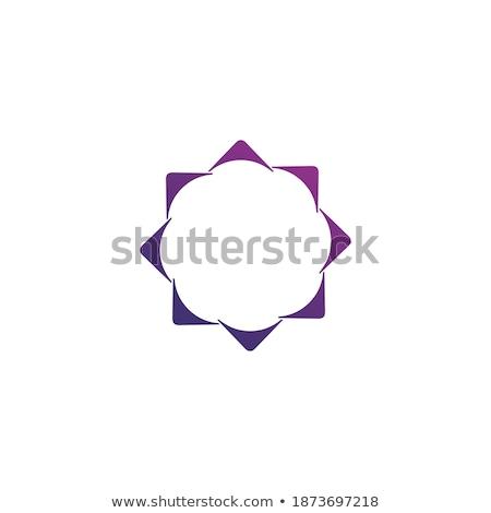 Kropkowany kółko projektu logo szablon Zdjęcia stock © kyryloff