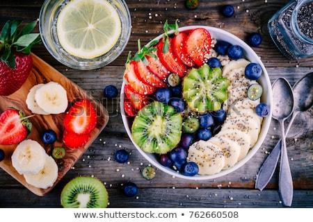 Saludable desayuno granola bayas casero frescos Foto stock © karandaev