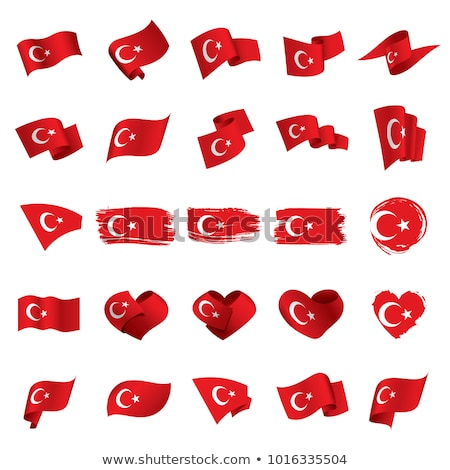 National flag of the Turkey in the shape of a heart and the inscription I love Turkey. Vector illust Stock photo © butenkow