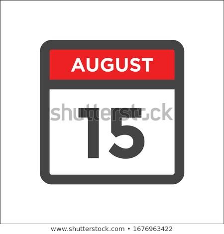 Simples preto calendário ícone 15 agosto Foto stock © evgeny89