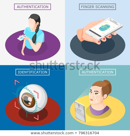 Human Eye Scanning isometric icon vector illustration Stock photo © pikepicture