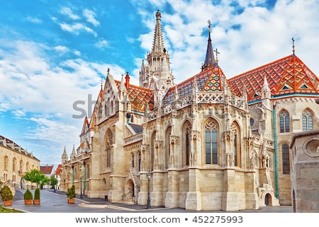 Stock fotó: Templom · Budapest · Magyarország · kilátás · éjszaka · kastély