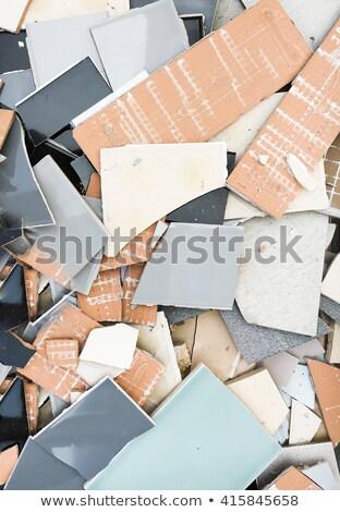 A Pile of Broken Tiles Stock photo © pixelsnap