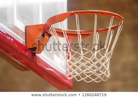 basketball hoop in old gym stock photo © mybaitshop