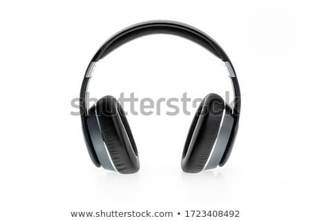 Earphones on the white background Stock photo © ozaiachin