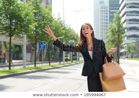 Zakenvrouw taxi vrouw werk landschap Stockfoto © photography33
