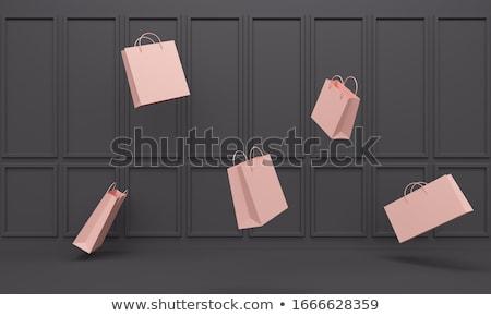 ストックフォト: ピンク · ショッピング · 女性 · 買い物客 · 脚 · ハイヒール
