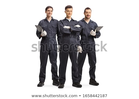 Stock photo: Portrait of a technician on white background