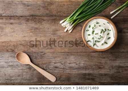Friss tejföl konyha tej főzés étel Stock fotó © yelenayemchuk