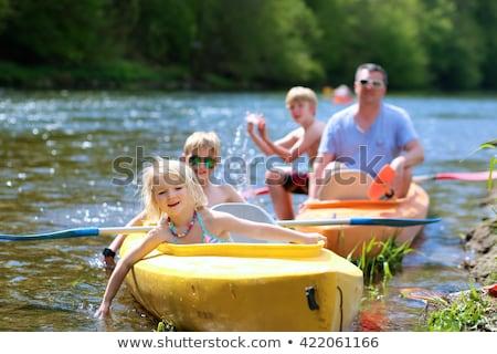 aile · yaz · gün · heyecanlı - stok fotoğraf © stockyimages