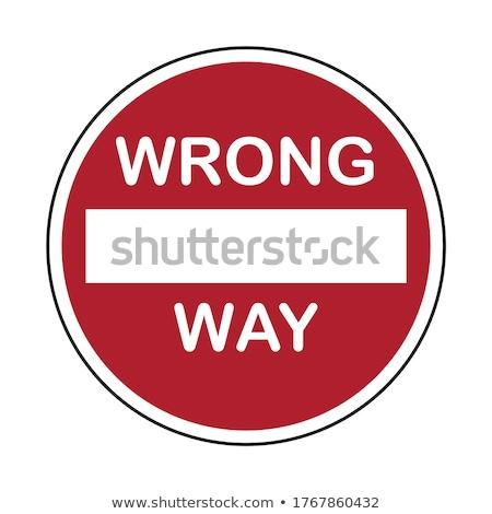 Não maneira assinar isolado branco céu Foto stock © shutswis