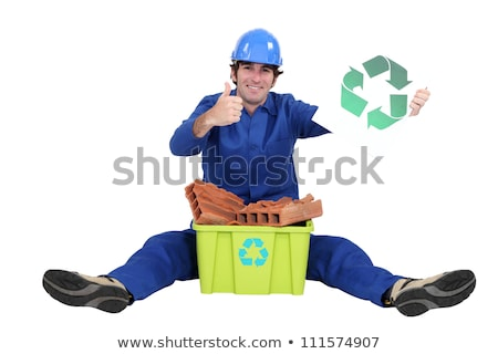 Builder with box of materials to be recycled Stock photo © photography33