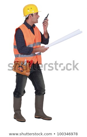 Foreman giving instruction via radio Stock photo © photography33