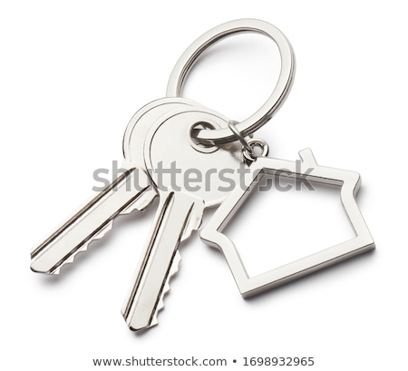 key with a blank tag on a white background stock photo © inxti