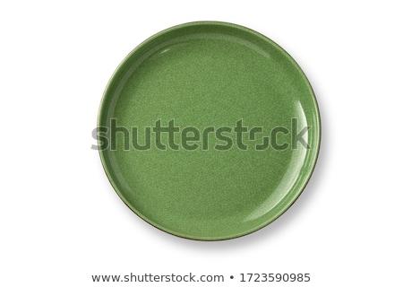 Stok fotoğraf: Yeşil · plaka · boş · yalıtılmış · beyaz