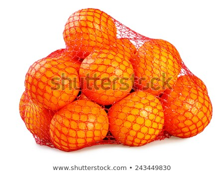 red net with mandarines Stock photo © compuinfoto