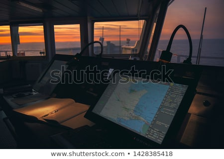 Radar militari nave moderno cielo mare Foto d'archivio © 5xinc