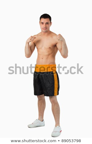 Giovani boxer nudo up bianco sport Foto d'archivio © wavebreak_media