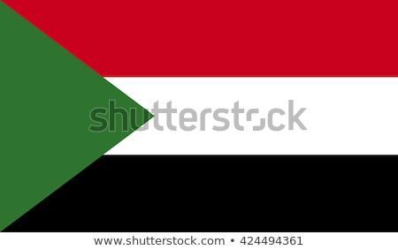 Szudán zászló háromdimenziós render szatén textúra Stock fotó © daboost