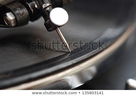 Gramofon iğne vinil kayıtlar aşırı makro Stok fotoğraf © inxti