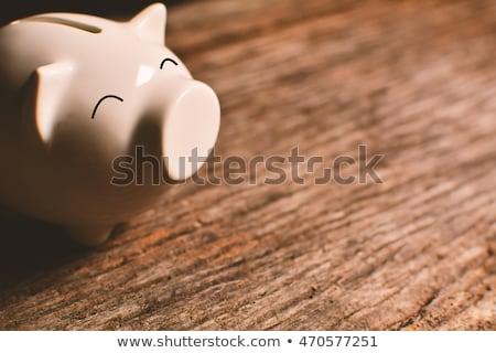 белый Piggy Bank копия пространства керамической белом фоне Сток-фото © wavebreak_media