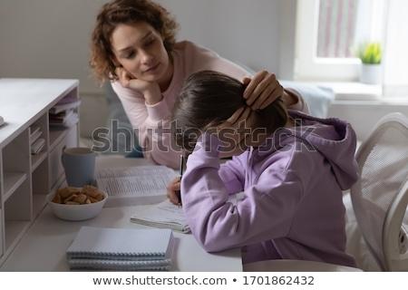 Worried Schoolgirl Stock photo © luminastock