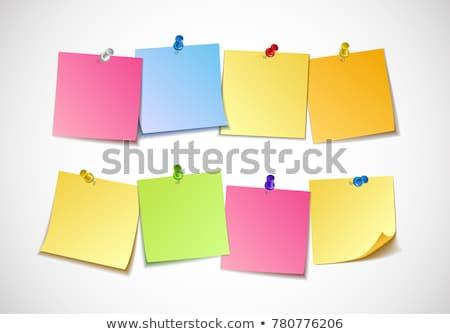 different colored paper clips stock photo © chrisdorney