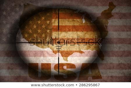 Világ mesterlövész világtérkép radar képernyő konzerv Stock fotó © ArenaCreative