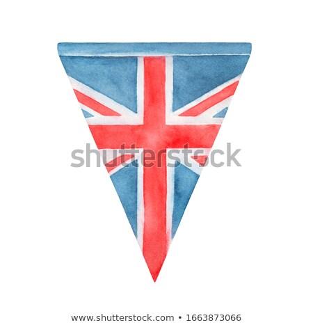 флаг британский флаг синий белый стране стиль Сток-фото © claudiodivizia