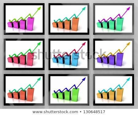 矢印 アップ 金融 成長 成功 ストックフォト © stuartmiles