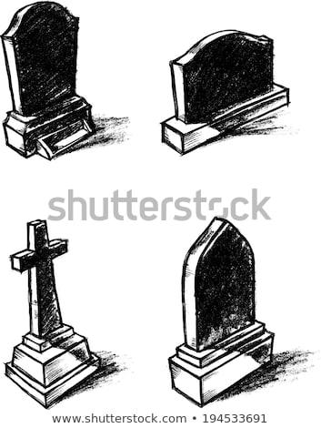 Nagrobek cień cmentarz shot złoty świetle Zdjęcia stock © ca2hill