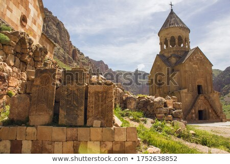 stone carving on the wall of orthodox church stock photo © kirill_m